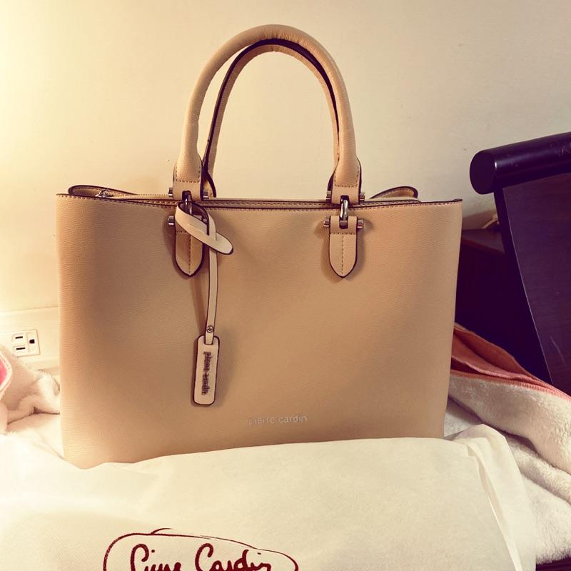 Pierre Cardin全新淡粉色女用側背包