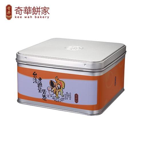 【台灣奇華】土雞蛋捲禮盒〈精緻鐵盒附袋〉