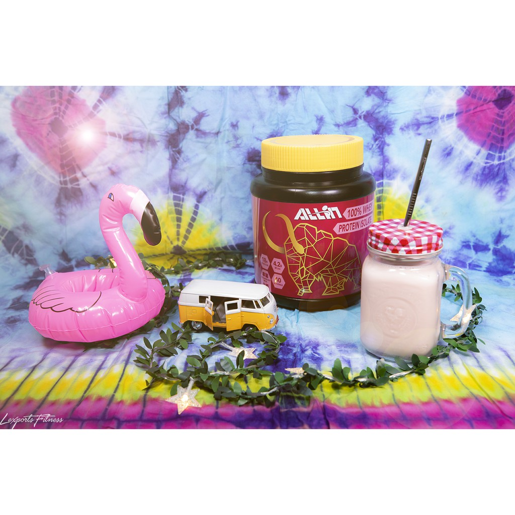 Taiwan All In 分離乳清蛋白 草莓牛奶 (1KG/罐) / 低脂 低熱量乳清【現貨供應】增肌首選