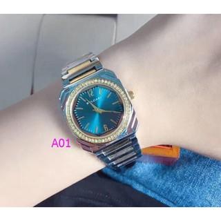 寶格麗 Bulgari 時尚手錶鋼帶石英手錶鑽石時尚男女設計師個性腕錶 手錶