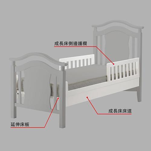 娃娃城 Baby City 伊莎德倫三合一成長大床配件(白色)[免運費]