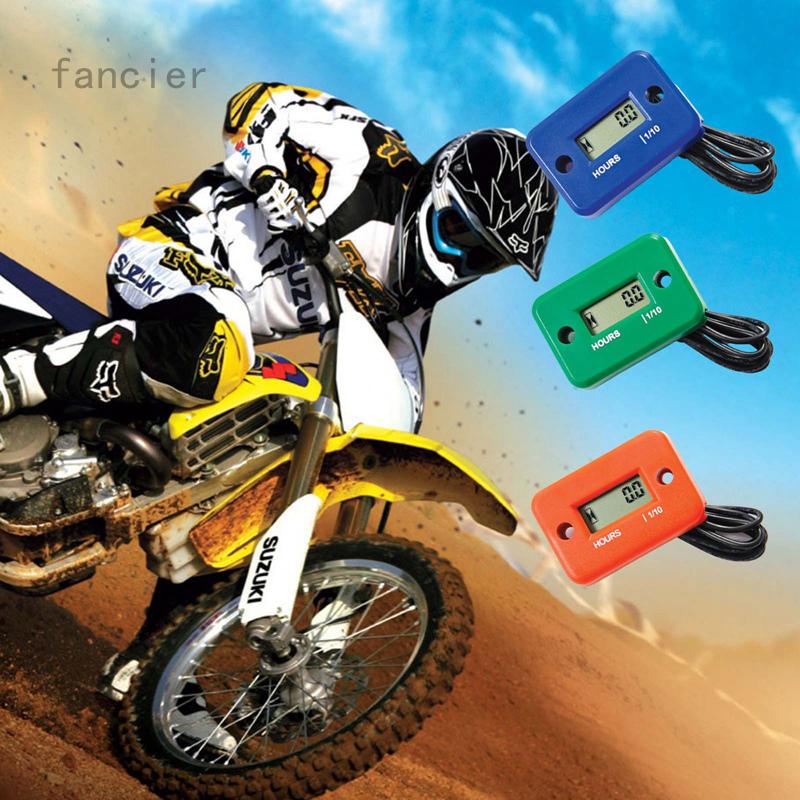 Fancier 摩托車累時器 感應式改裝摩托車沙灘車割草機防水計時器