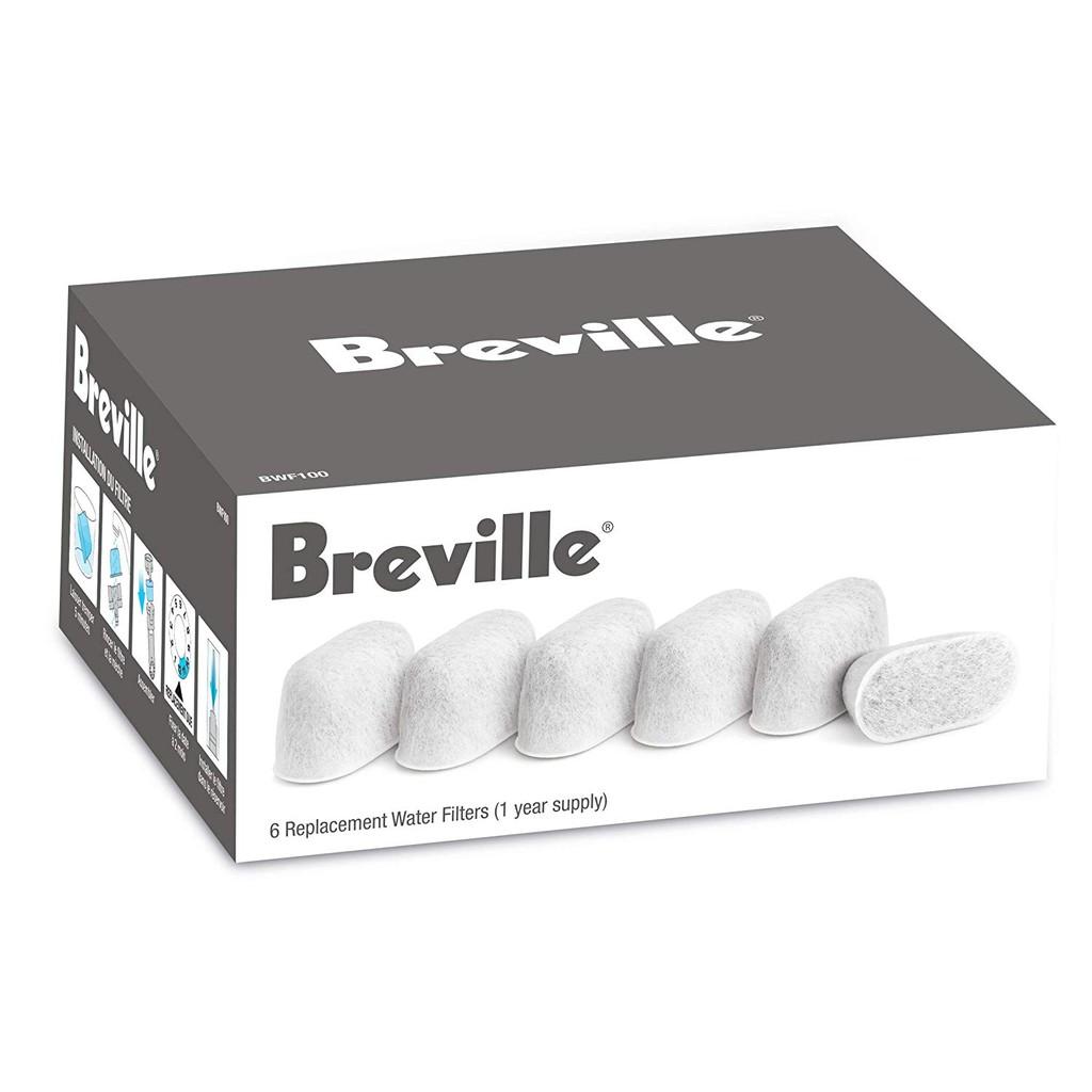 Breville 咖啡機水箱濾心 BWF100 原廠 6顆裝 相容:BES980XL/BES920XL