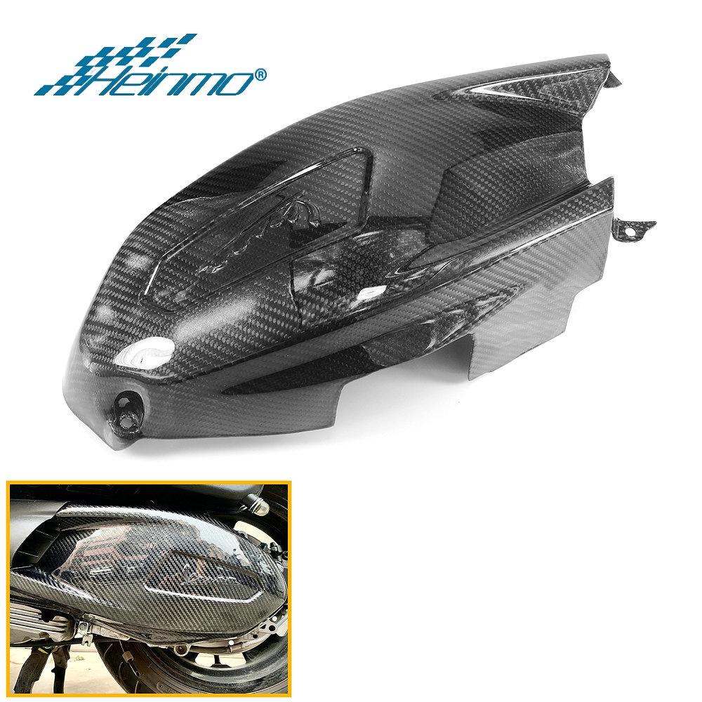 摩托車變速箱隔熱罩保護器發動機罩碳纖維變速箱適用於比亞橋偉士牌Vespa GTS 300 250 2017-2021