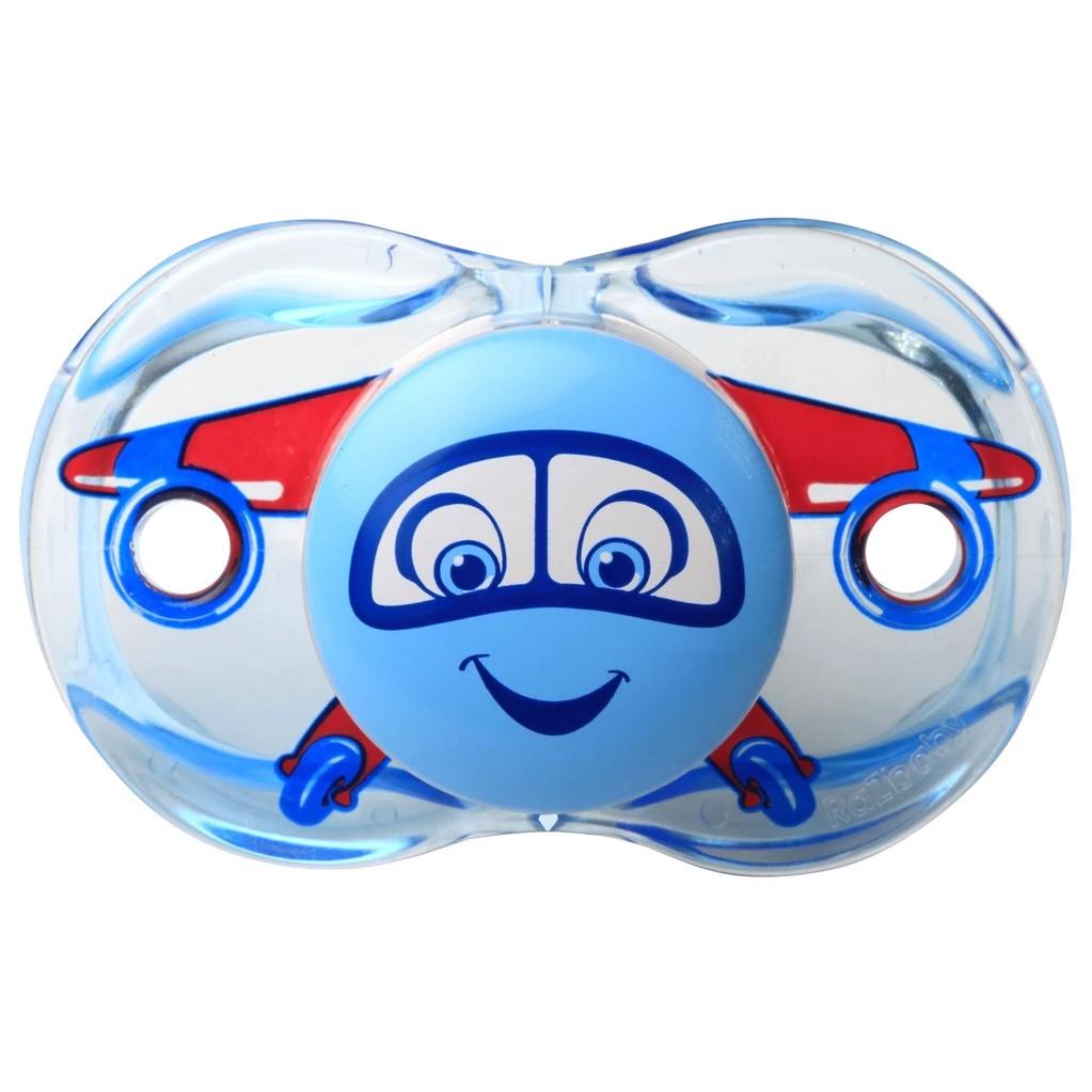olina|RaZ baby安全安撫奶嘴(掉落自動閉合)0~36個月 - 飛機|美國正品