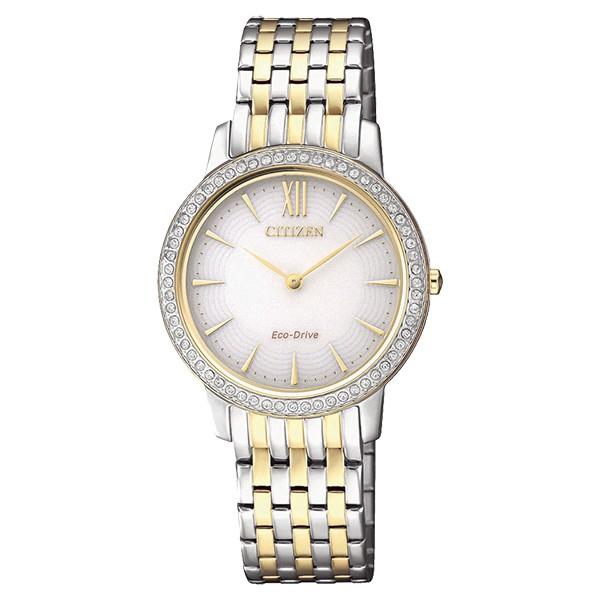 CITIZEN 星辰 LADY'S 典雅晶鑽光動能時尚女腕錶(EX1484-81A) 送TESCOM 廠商直送 現貨