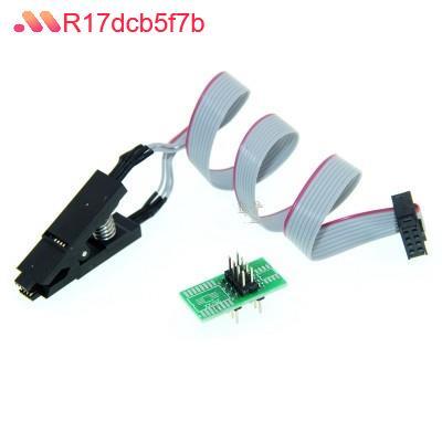 【現貨】SOP8 測試夾 燒錄夾 IC夾子線 窄體 寬體 刷機通用夾 BIOS燒錄座 Fr17dcb5p