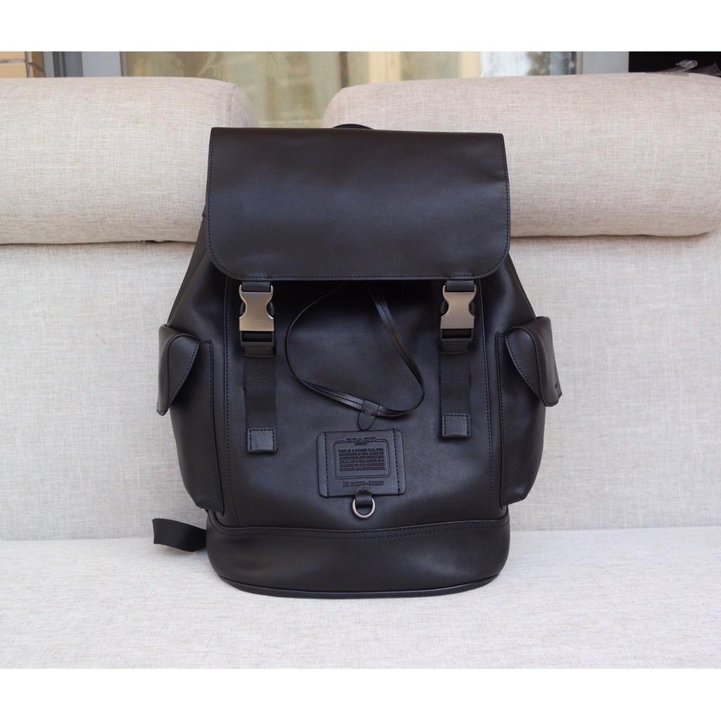 [朵朵]COACH 36080 新款男士素面牛皮抽繩便利扣雙肩後背包 可放筆記本 挑戰網絡最低價