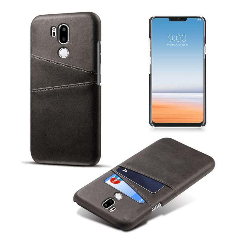 適用lgg7手機殼插卡LG G7+ ThinQ皮質保護套LGG7+商務潮手機皮套