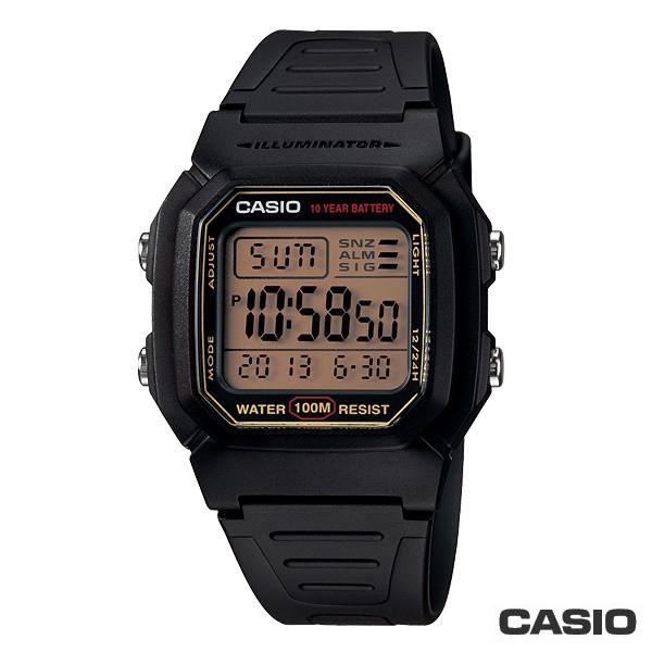【CASIO】W-800HG-9A 10年電力經典造型電子錶/防水100M/男女通用/36mm【第一鐘錶】