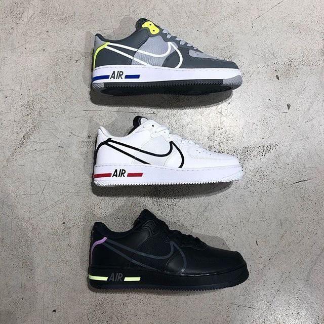 全新正品NIKE AIR FORCE 1 REACT 休閒鞋 男鞋 CD4366-001 CD4366-100 002