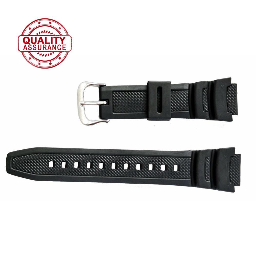 原裝卡西歐手錶帶, 用於雙傳感器 SGW 100 SGW 黑色 1V 100 錶帶橡膠 O3I4