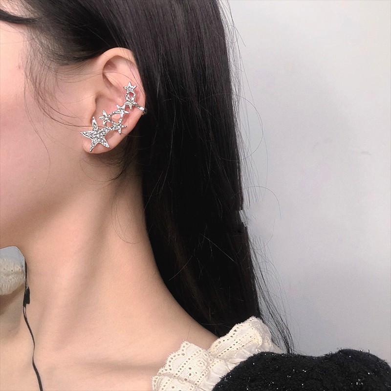 特別甜 鑲鑽星星 創意少女情懷 閃閃亮亮 耳掛耳環耳夾耳針 一個販售