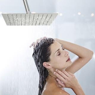 超薄不銹鋼浴室顶喷(6吋 8吋 10吋)手持方形節水頂噴蓮蓬頭 超大面板淋浴花灑 淋浴柱 節水30%