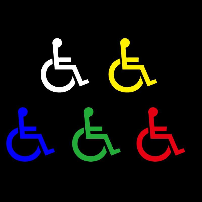【輪椅貼紙】反光 輪椅 殘障 身心障礙 貼紙 友善提醒 汽車貼紙 機車貼紙 反光防水貼紙 標誌 車隊貼紙