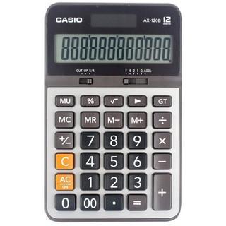 【限時免運】【CASIO卡西歐】【含稅 可開三聯報帳】【公司貨附保卡】 AX-120B 12位元 商用型計算機 黑灰色