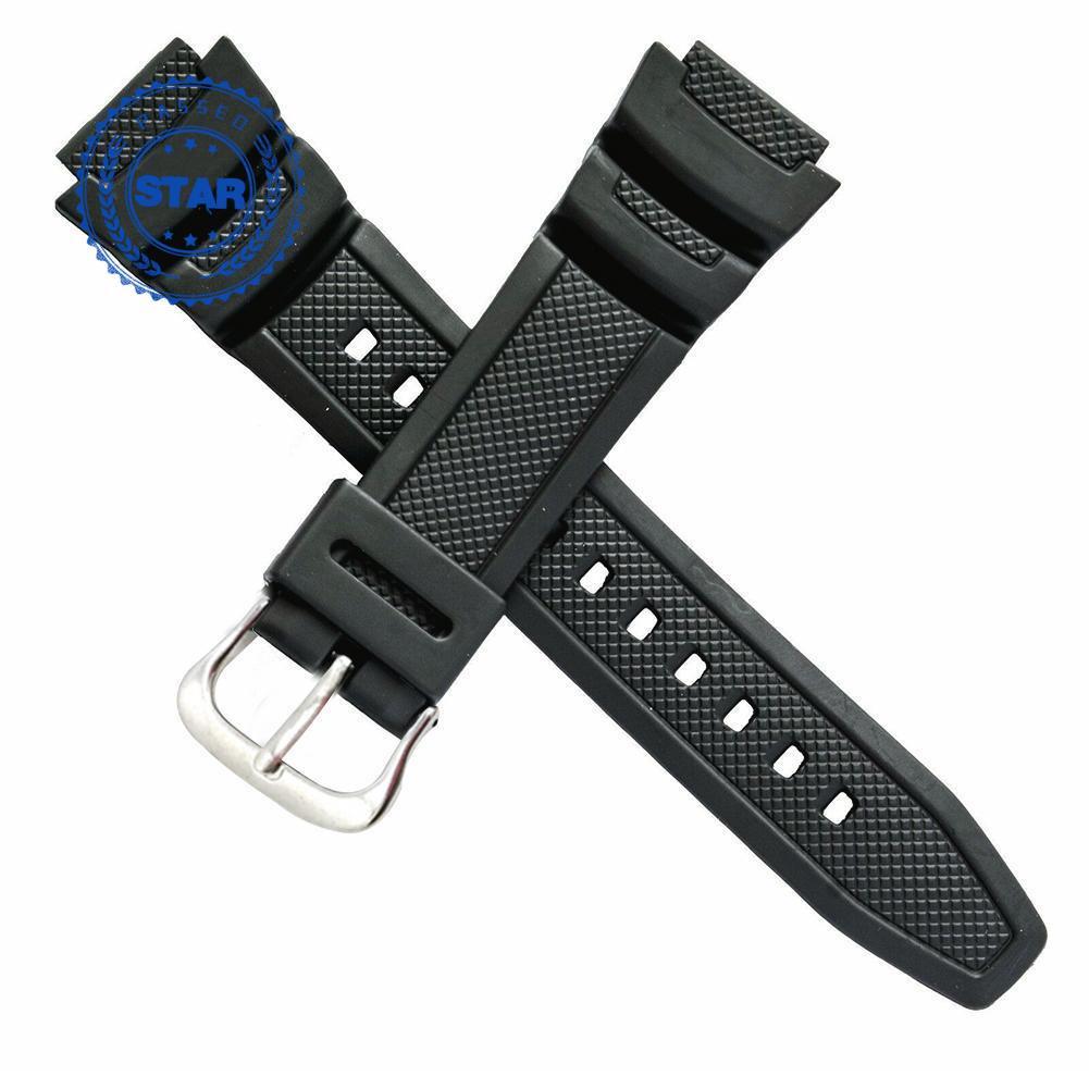 原裝卡西歐手錶帶, 用於雙傳感器 SGW 100 SGW 錶帶 100 橡膠黑色 1V K1W6