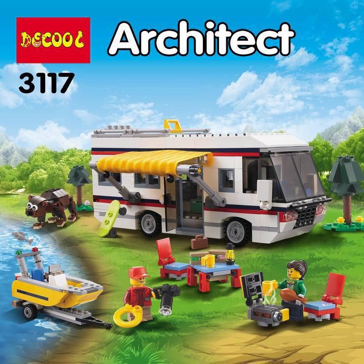 🐻熊熊🐻現貨or預購🔥得高3117 創意百變三合一 度假露營車、度假房子、度假遊艇 / Lego31052