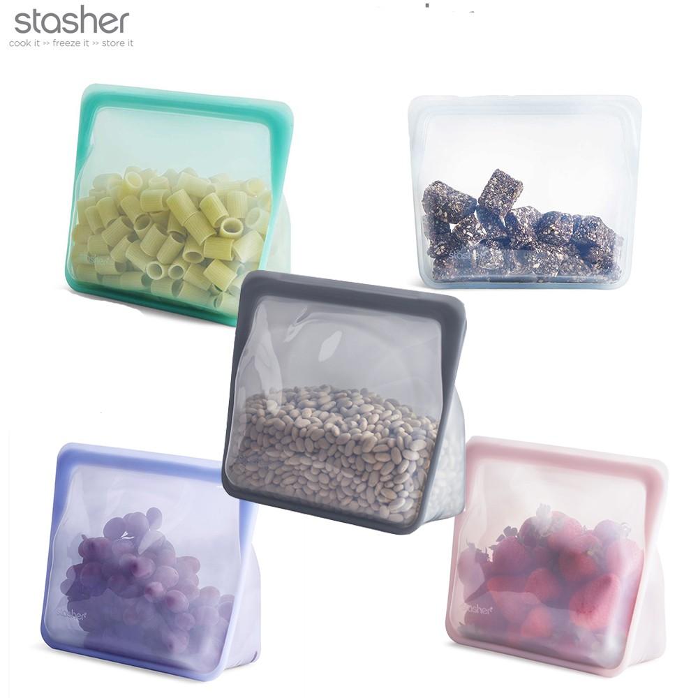 Stasher】站站矽膠密封袋舒肥矽膠密封袋/環保袋/矽膠袋/食物收納袋| 蝦皮購物