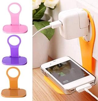 智能手機可折疊充電座,  壁掛式手機支架充電座顏色隨機