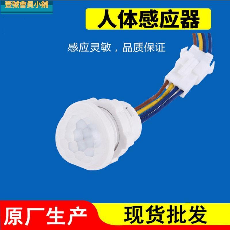 110V臺灣可用 PIR 紅外線人體感應開關 控制小電器 吸頂燈 智慧模組 低壓12 24V LED燈