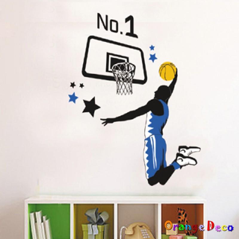 【橘果設計】灌籃 壁貼 牆貼 壁紙 DIY組合裝飾佈置