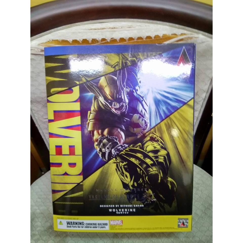 無盒損 正版 代理版 Play Arts改 漫威 金鋼狼 可動 Marvel Wolverine
