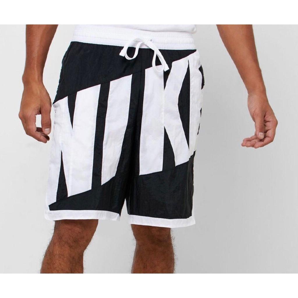Nike 耐吉 復古大logo 拼接運動短褲 速乾 透氣短褲 五分褲 籃球短褲 男 JD981