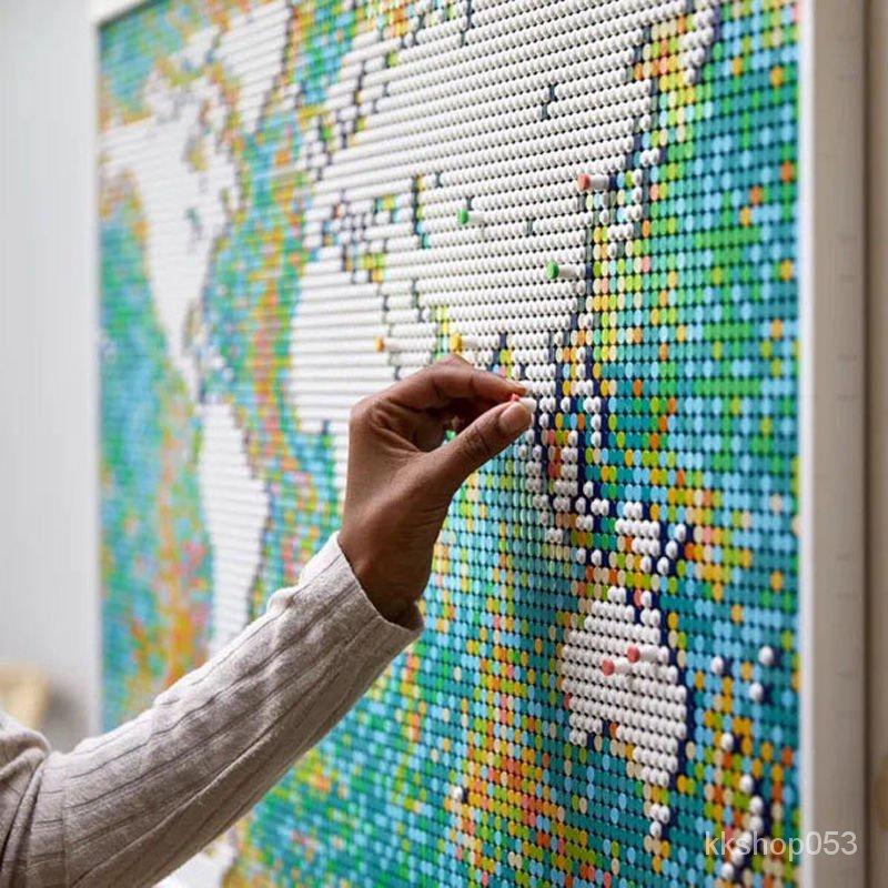 【新品現貨 精品拼裝】兼容樂高世界地圖31203巨大型成人高難度拼裝益智積木玩具禮物 HQZV