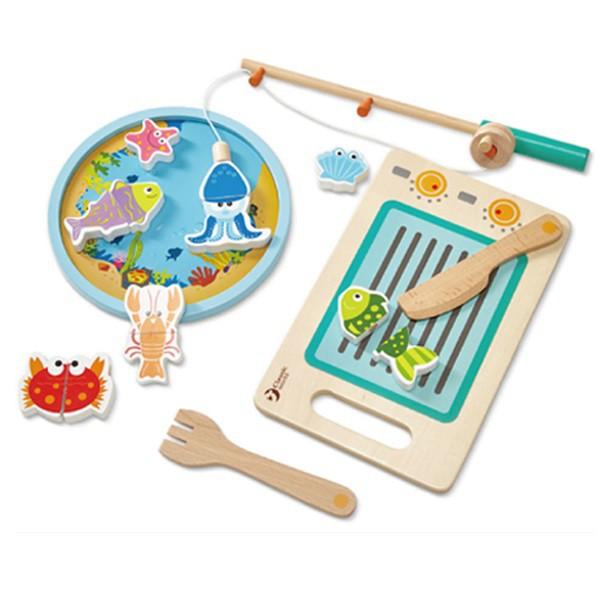 Classic World 德國經典木玩 磁性釣魚切切樂 蝦皮24h