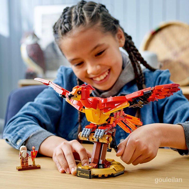 樂高 積木樂高 【現貨】樂高哈利波特76394鄧布利多的鳳凰福克斯兼容樂高男女孩積木玩具 樂高玩具