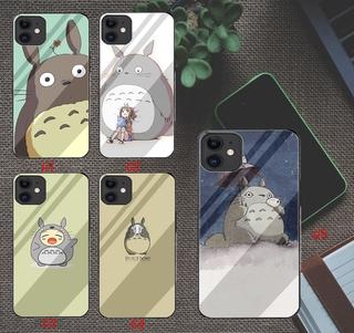 Iphone 5 5s 6 6s 7 8 Plus 玻璃手機殼我的鄰居龍貓