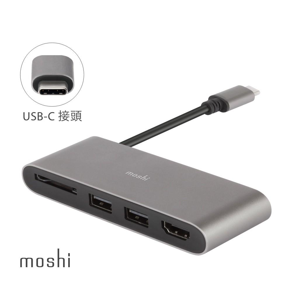 Moshi USB-C 多媒體轉接器 apple macbook pro HDMI轉接 筆電轉接