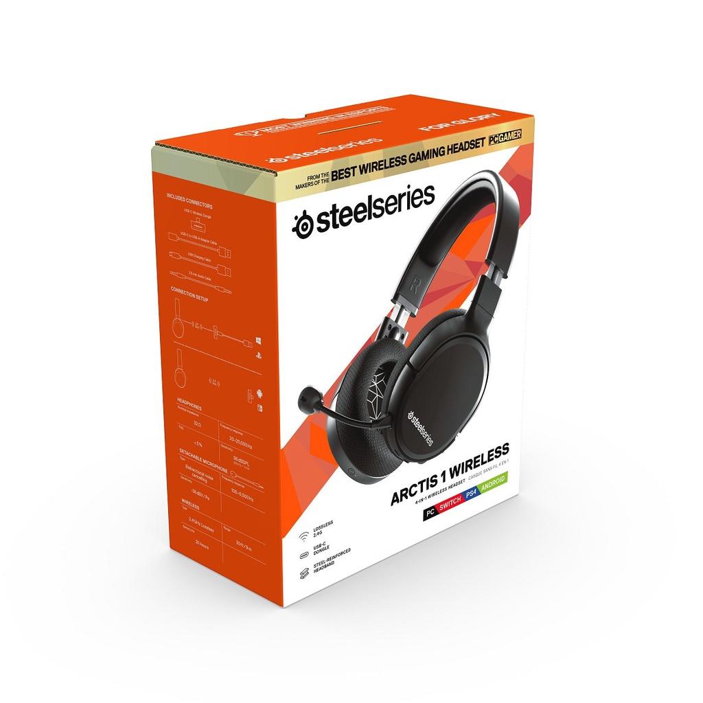 SteelSeries賽睿 Arctis 1 Wireless無線電競耳機 麥克風 支援NS/PS5/PS4【魔力電玩】