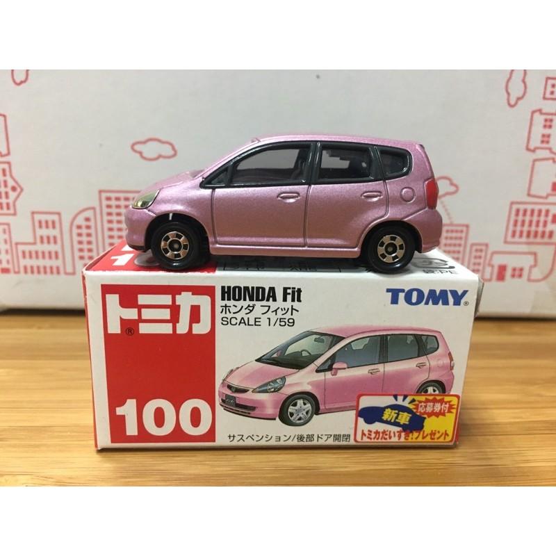 [FuFu日貨]Tomica 舊藍標 NO.100 HONDA FIT 本田 新車貼