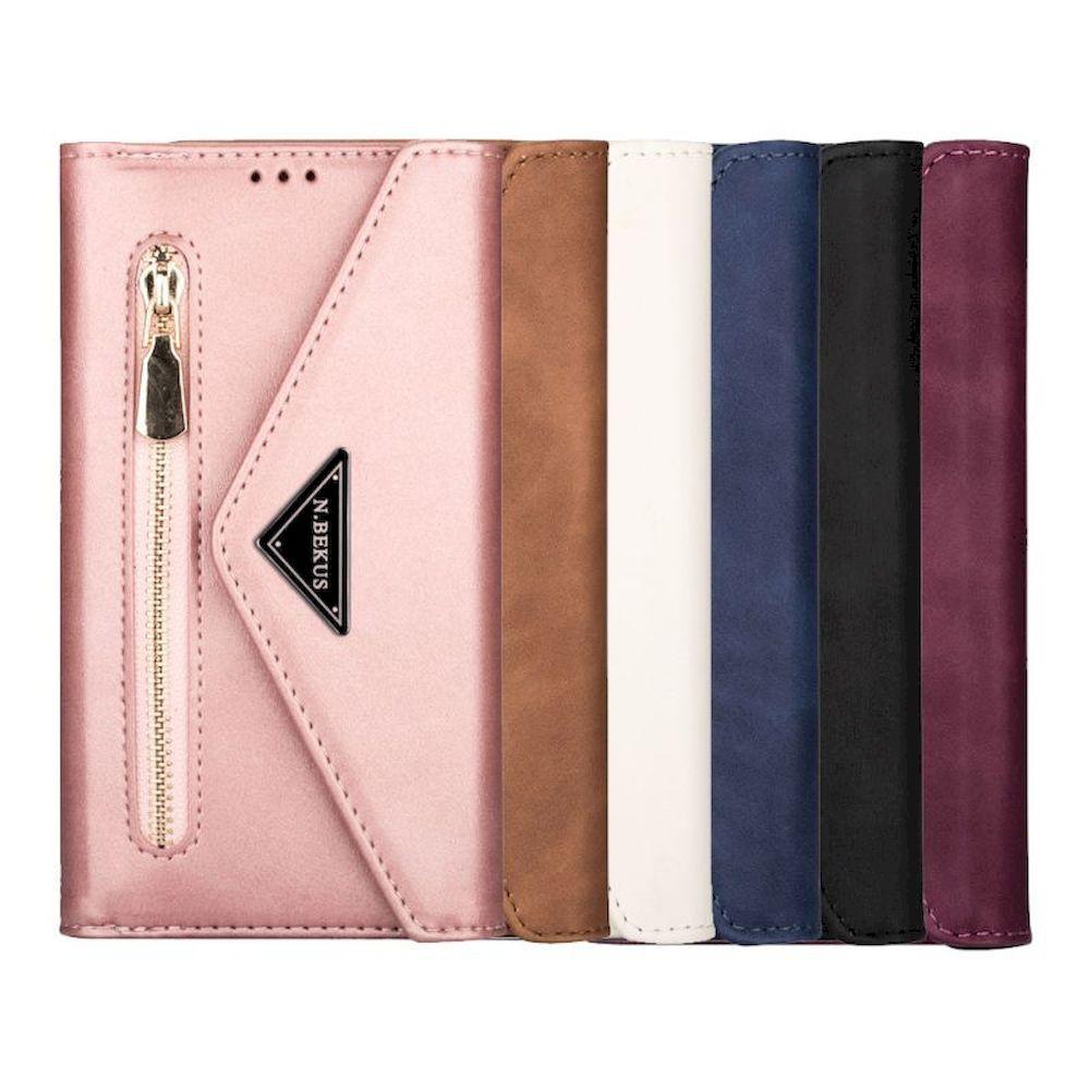 Samsung Galaxy S21 Ultra S21+ S21 皮革保護套信封造型手機套多卡層拉鍊收納夾層掛繩皮套