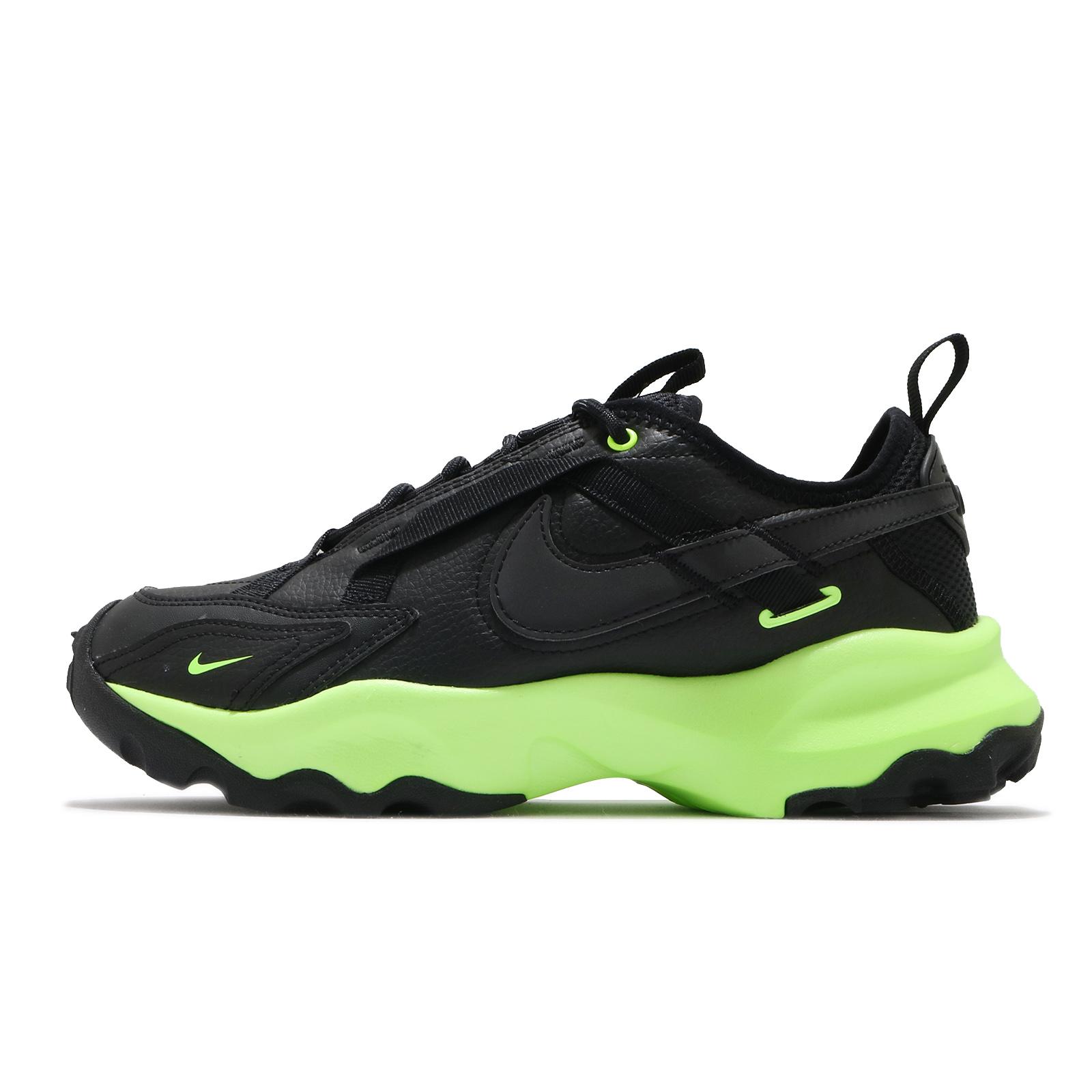 Nike 休閒鞋 Wmns TC 7900 黑 綠 微厚底 增高 女鞋 運動鞋【ACS】 DD9681-001