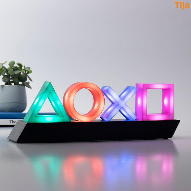【Tija】裝飾燈 氛圍燈 3D小夜燈 PS4游戲圖標燈 音樂節奏燈 PlaySation ICONs light信仰燈