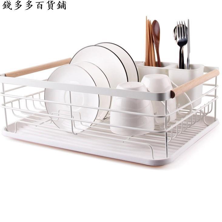 鐵藝廚房用品 日式碗架單層瀝水架多功能置物架碗盤收納架