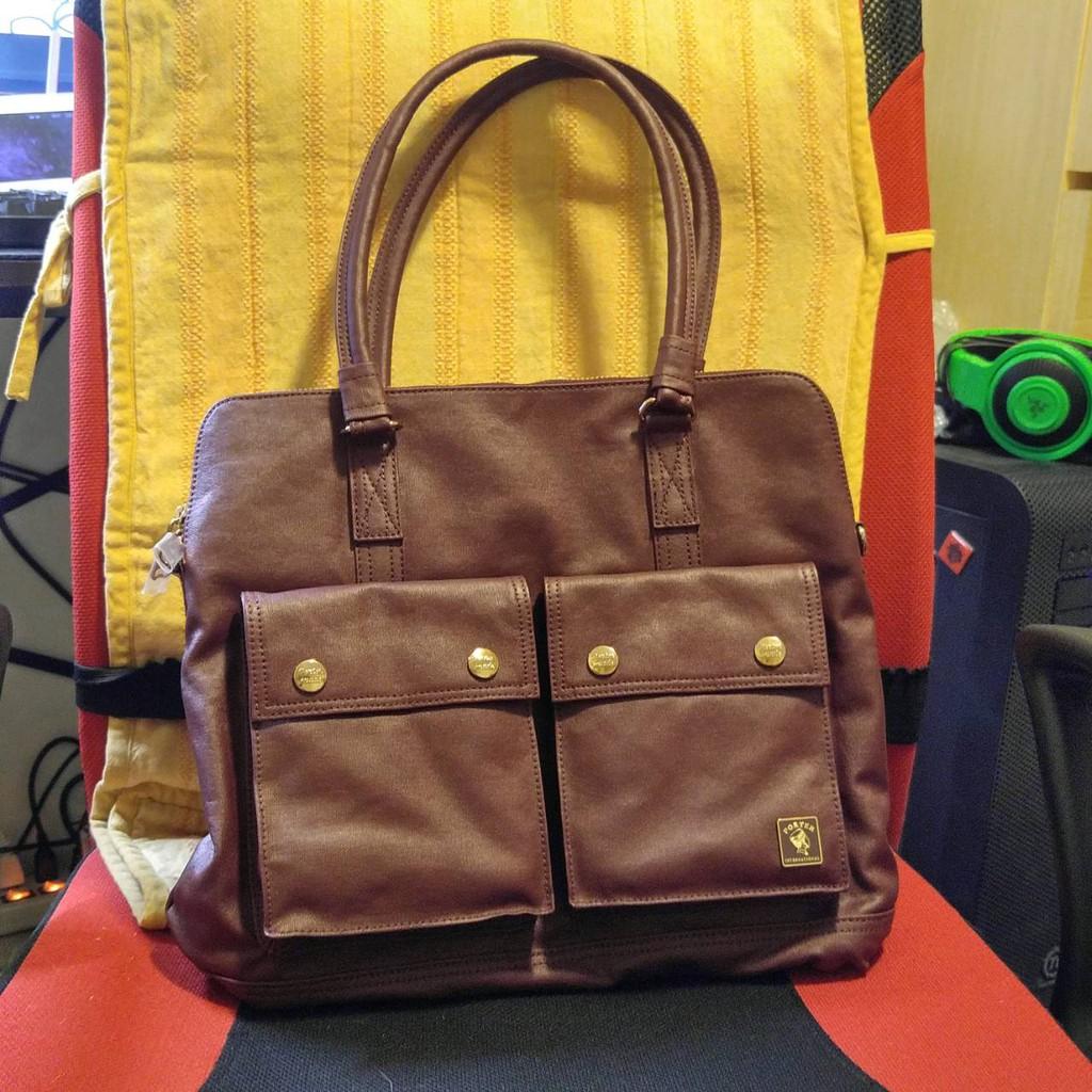 [Q-PAO] 全新 正版 PORTER 女用 紅色手提包 有附背帶