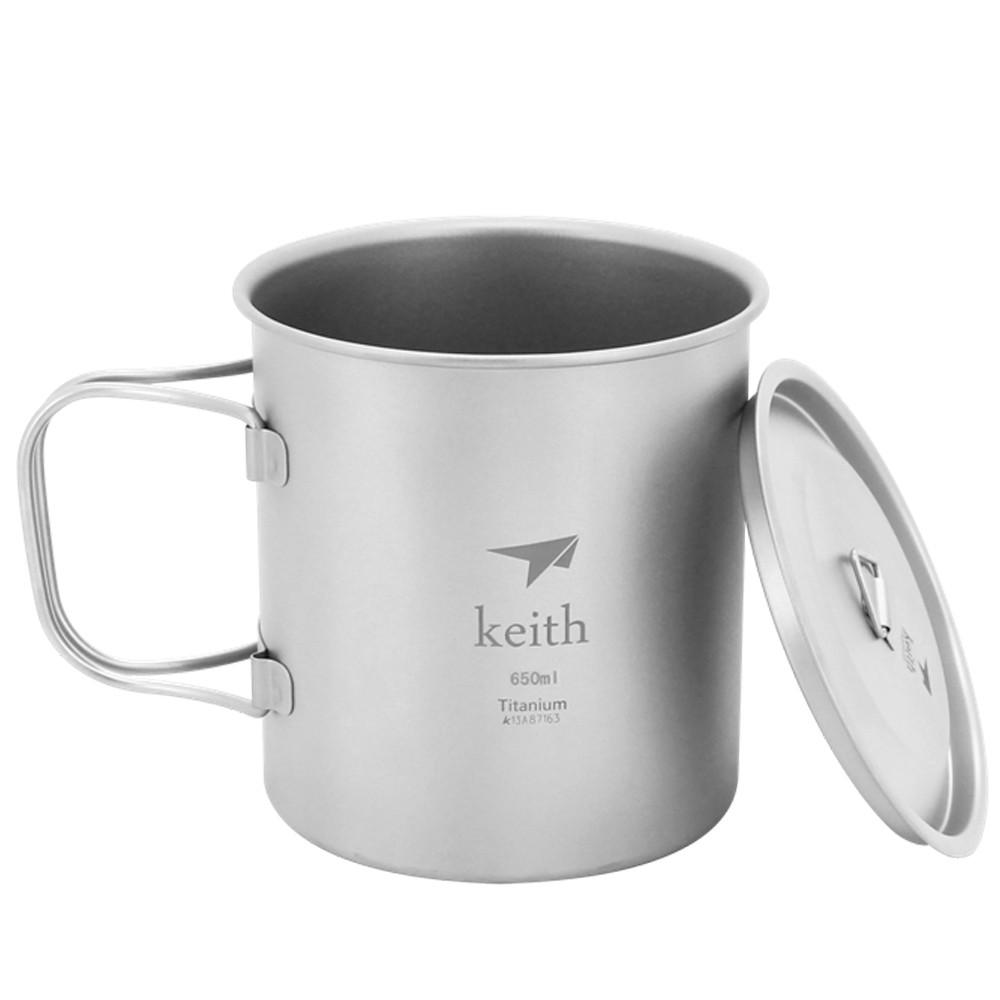【Keith純鈦】Ti3208折疊水杯(650ml)《泡泡生活》
