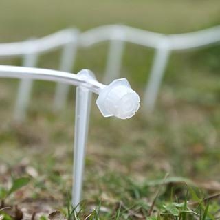 ACT✧50個白色節水8孔可關閉滴頭 灌溉均勻 抗阻塞易清洗透明可調滴頭(白色)