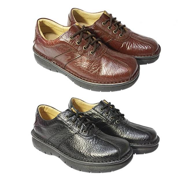 鞋鞋俱樂部 Leon Chang 雨傘牌 真皮 質感 休閒皮鞋 咖 黑  170-LR8557