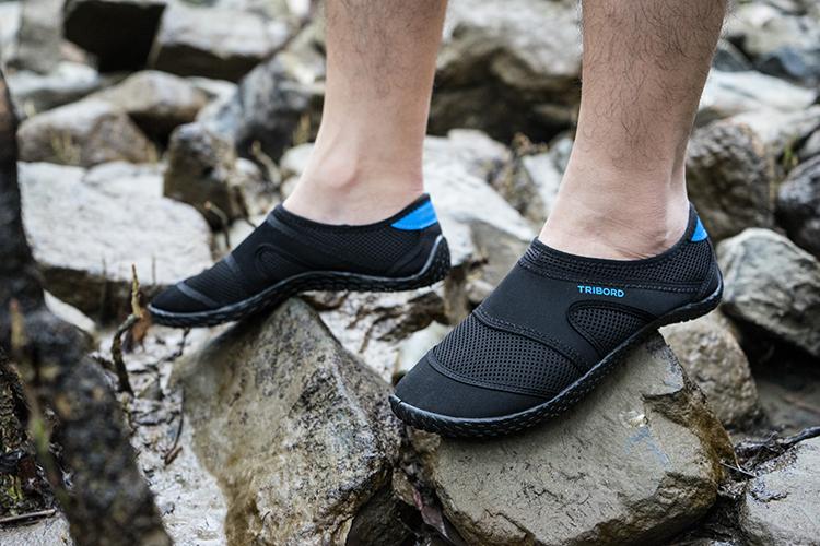 迪卡儂戶外男女兒童涉水溯溪鞋潛水鞋漂流兩棲透氣防滑沙灘涼軟鞋