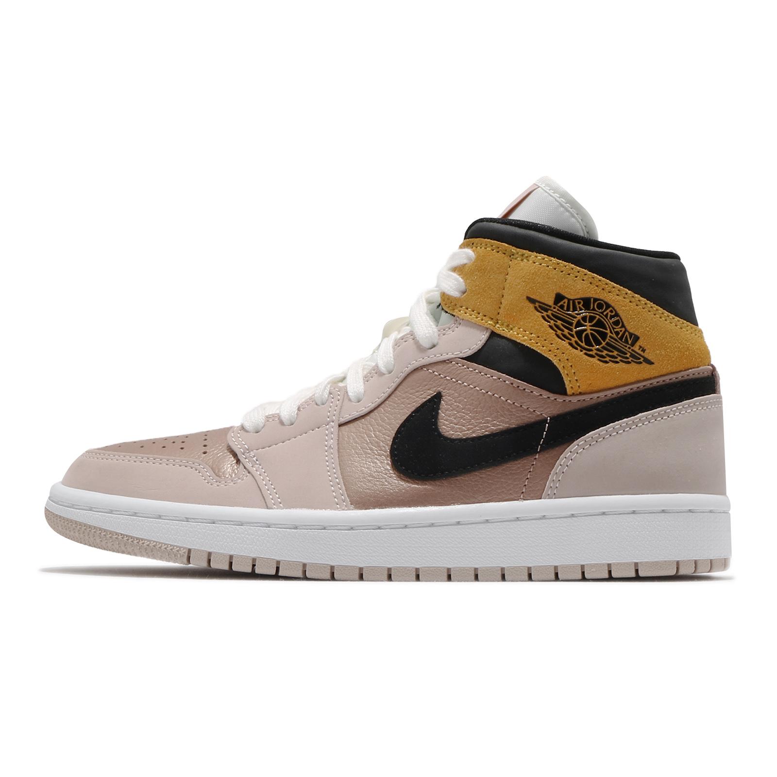 Nike Wmns Air Jordan 1 Mid SE 米白 粉紅 黑 喬丹 1代 女鞋 ACS DD2224200