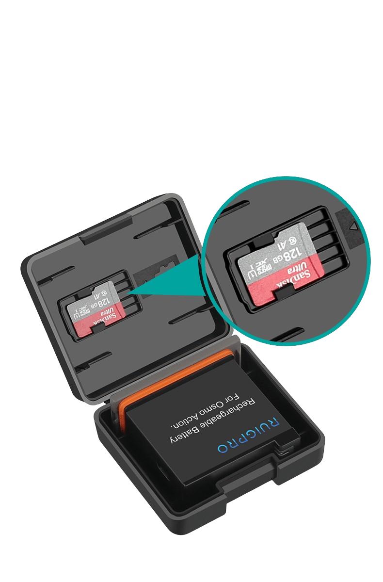 gopro9電池盒 hero 5/6/7/8 osmoaction actiom電池盒記憶卡盒