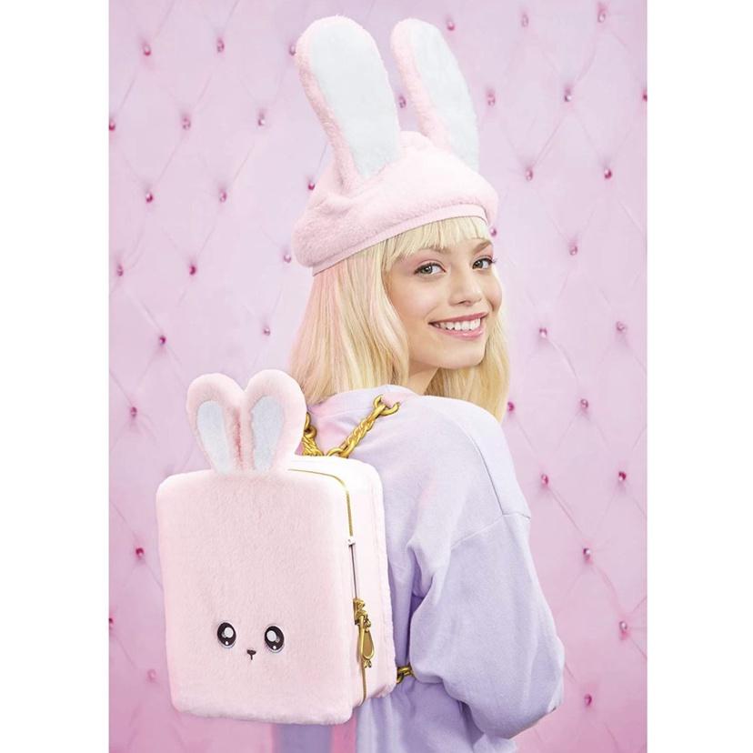 娜娜娜驚喜黑猫粉兔nanana背包超大限定版套裝驚喜毛絨娃娃布偶