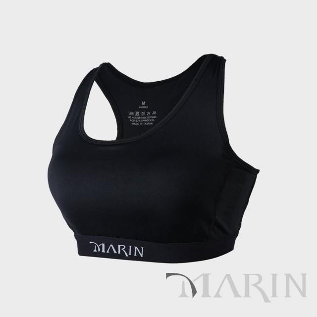 MARIN 鋅離子 中度支撐型運動內衣(黑)