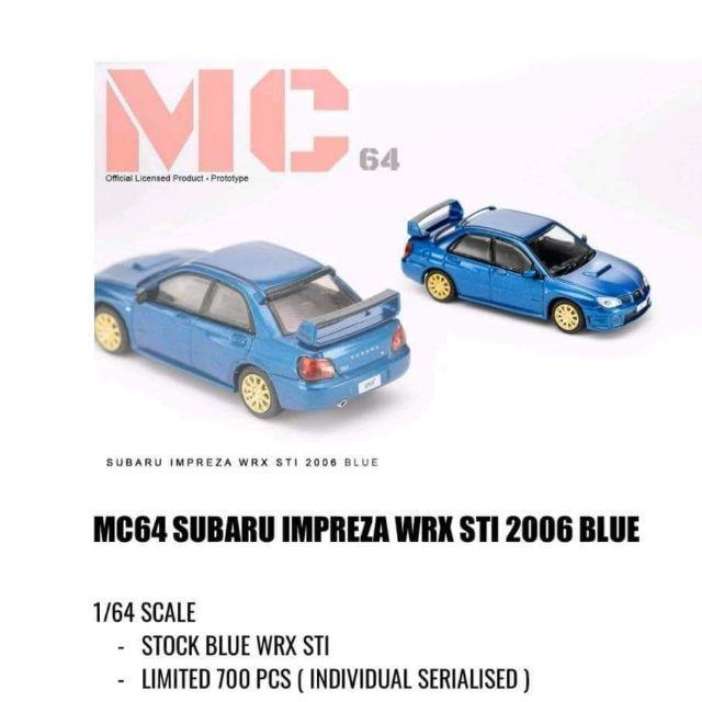 內有現貨 ◇ MC64 MC 64 1/64 SUBARU IMPREZA WRX STI 2006