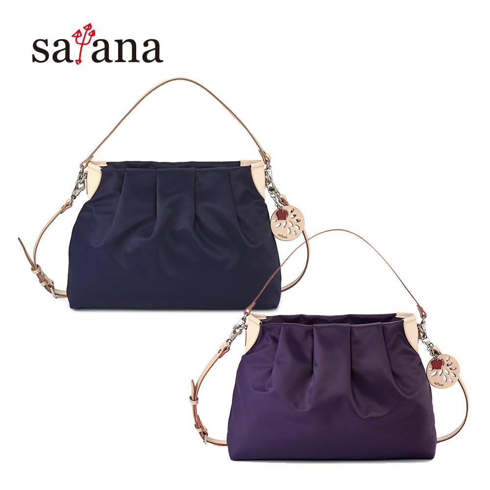 satana 品味生活中型肩背包/側背包/斜背包-墨藍色/紫水晶 廠商直送 現貨